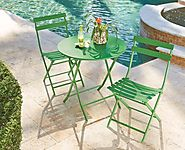 Outdoor Folding Metal Bistro Set Reviews - Outdoor Patio Bistro Sets