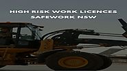 High Risk Work Licences NSW
