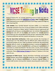 MCSE Training In Noida