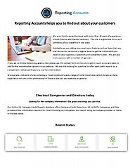 Reporting Accounts helps you to find out about your customers