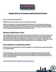 Equity Release in London and the home counties - PC - Marketing et communication