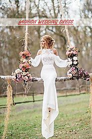 White wedding dresses with sleeves