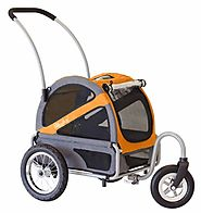 DoggyRide Mini Dog Stroller - Dutch Orange/Grey (DRMNST02-OR), DoggyRide Stoller