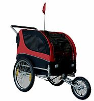 MDOG2 Comfy MK0291 Pet Bike Trailer/Jogging Stroller - Red/Black