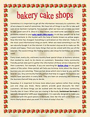 Bakery cake shops