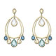 Azore Drop Pierced Earrings - Jewelry - Swarovski Online Shop
