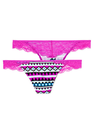 Lace Back Thong Panty - PINK - Victoria's Secret