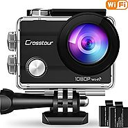 "Crosstour Action Camera Underwater Cam WiFi 1080P Full HD 12MP Waterproof 30m 2"" LCD 170 degree Wide-angle Sports Cam..."