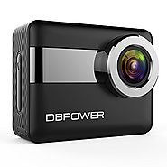 "DBPOWER N6 4K Touchscreen Action Camera, 2.31"" LCD Touchscreen 20MP Sony Image Sensor 170° Wide-Angle Waterproof WiFi..."