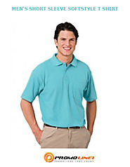 Soft Style Men's Polo T-Shirts Custom Printed From Promoline1