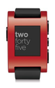 Amazon.com: Pebble Smart Watch for iPhone and Android Devices (Red): Cell Phones & Accessories