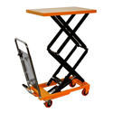 "Bolton Tools New Hydraulic Foot Operated Double Scissor Lift Table Cart Hand Truck - 220 LB of Capacity - 49.60"" Max ..."