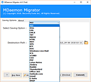 MDaemon Converter Wizard (Export MDaemon to Outlook PST, MSG, EML, EMLX, TXT, PDF, MBOX, HTML, MHT, XPS, RTF, DOC, IC...
