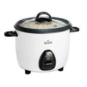 Rival RC101 10-Cup (Cooked) Rice Cooker with Steaming Basket, White/Black