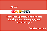 How to Show Last Updated/Modified Date on Newspaper WordPress Theme?