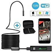 GOODAN Updated 1200P HD Wireless Endoscope Borescope for Android