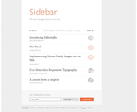 Sidebar: The 5 best design links, every day