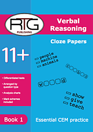 Buy 11+ CEM Style Verbal Reasoning Cloze Book Online | Verbal Reasoning Cloze Book | Eleven Plus RTG Shop