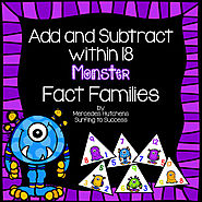 Fact Families: Add and Subtract within 18 by Mercedes Hutchens | TpT