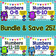 Numbers 0-20 BUNDLE Playdough Mat, Worksheets, Counting Mat, and More