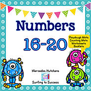 Numbers 16-20 Playdough Mat, Worksheets, Counting Mat, and More | TpT