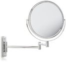Two-Sided Swivel Wall Mount Mirror x Magnification, 13.5-Inch Extension, Chro...