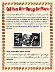 Cell phone water damage fort wayne
