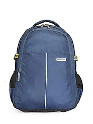 Maestro (blue) 17 inch laptop backpacks from Aristocrat bags for men with rain cover