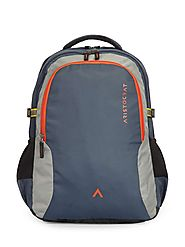 Grid 2 navy blue laptop backpack with built in rain cover from Aristocrat bags is a stylish 17 inch college backpacks...