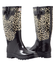 Women's Rubber Rain Boots Lined Mid Calf Hunting Style