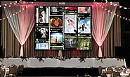 Put up a digital signage to display all glorious glimpses from your wedding. wedding wall