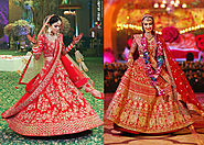 7 Indian Brides Who Made Us Go Weak In Our Knees With Their Magnificent Bridal Lehengas