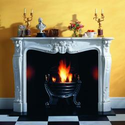 Marble & Limestone Mantel with Versailles Louis XV