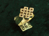 Tibetan Knot Ring - Gold