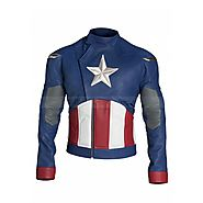 Website at https://www.black-leatherjacket.com/Captain-America-Jacket
