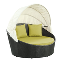 Sun Lounge Round Canopy Daybed with Peridot Cushions