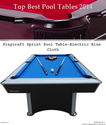 Top Rated Best Pool Tables Brands Reviews 2014