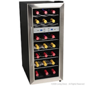 EdgeStar 21 Bottle Dual Zone Stainless Steel Wine Cooler - Stainless Steel