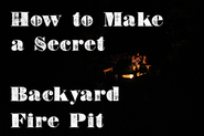 How to Build a Secret Backyard Fire Pit