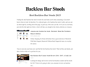 Best Backless Bar Stools 2015