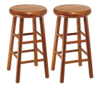 Amazon.com - Winsome Wood Assembled 24-Inch Cherry Finish Swivel Stools, Set of 2 - Bar Stools