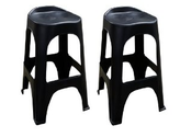 Amazon.com: Adams 8350-02-3702 Real Comfort 2-Pack Bar Stool, 30-Inch, Black: Patio, Lawn & Garden
