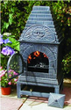 The Blue Rooster Cast Iron Casita Chiminea