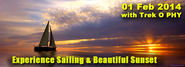 Trek O Phy : Experience Sailing & beautiful sunset on 01 Feb 2014