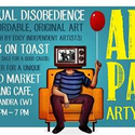 Arty Party = Art Market + Books On Toast + Music + Comedy + Alcohol