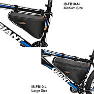 Ibera Bike Black Medium or Large Triangle Frame Bag - For Bike Tube Frame,Quick-Access