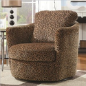 Swivel Patterned Accent Chair, Leopard