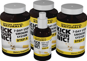 Kick Your Nic! Quit Smoking in 7 Days - All-Natural Herbal Kit Contains Three Bottles+One 2-Oz Spray