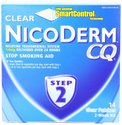 NicoDerm CQ Step 2 Clear Patch, 14 mg, 2-Week Kit (14 patches)