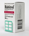 Habitrol Nicotine Quit Smoking Gum, 2mg, Mint flavor coated gum. 96 pieces per box